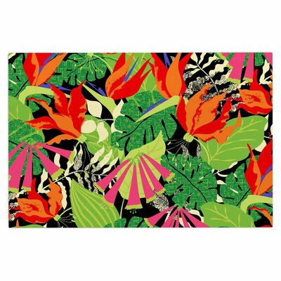 Jacqueline Milton Tropicana Lime Doormat Color: Green/Lime White