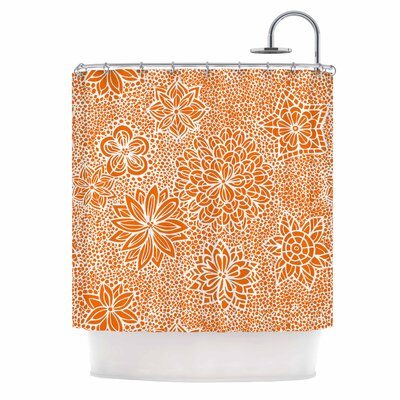 Julia Grifol Garden Flowers Shower Curtain