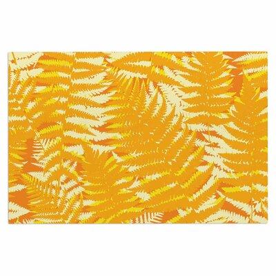 Jacqueline Milton Fun Fern Citrus Doormat Color: Orange/Green