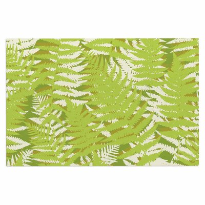 Jacqueline Milton Fun Fern Citrus Doormat Color: Green