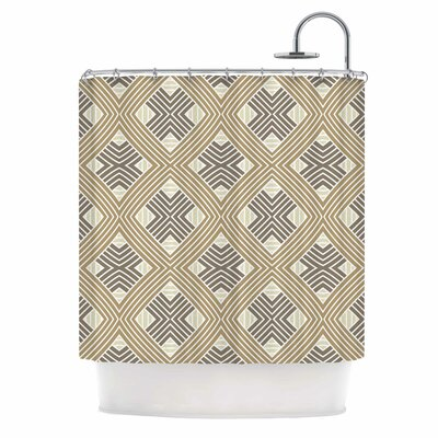 Julia Grifol Brown Geometries Shower Curtain