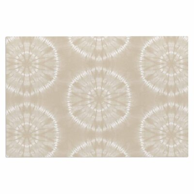Jacqueline Milton Shibori Circles Latte Pastel Mixed Media Doormat Color: Latte/Beige