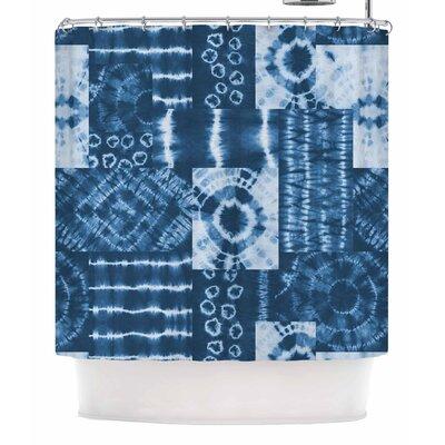 Jacqueline Milton Shibori Patchwork Abstract Shower Curtain
