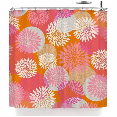 Jacqueline Milton Flower Power Illustration Shower Curtain