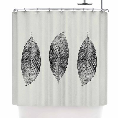 Julia Grifol Three Leaves Shower Curtain