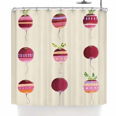 Judith Loske Happy Radishes Shower Curtain