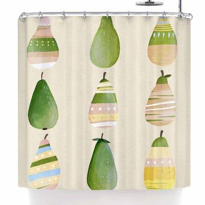Judith Loske Happy Pears Shower Curtain