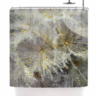 Ginkelmier Golden Dew on Dandelio Shower Curtain
