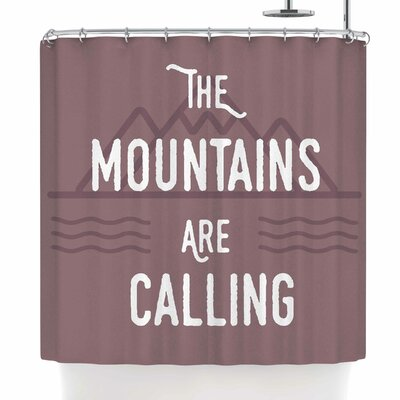 Jackie Rose the Mountains Are Calling Shower Curtain