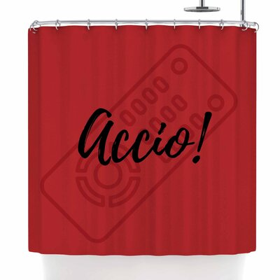 Jackie Rose Accio! Remote Illustration Shower Curtain