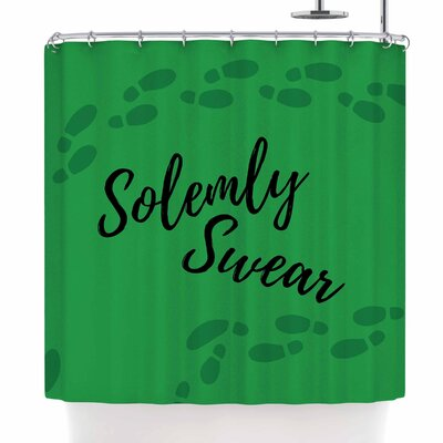 Jackie Rose Solemly Swear Illustration Shower Curtain
