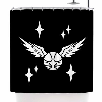 Jackie Rose Golden Snitch Shower Curtain