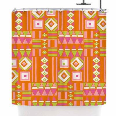 Jacqueline Milton Heatwave - Hot Illustration Shower Curtain