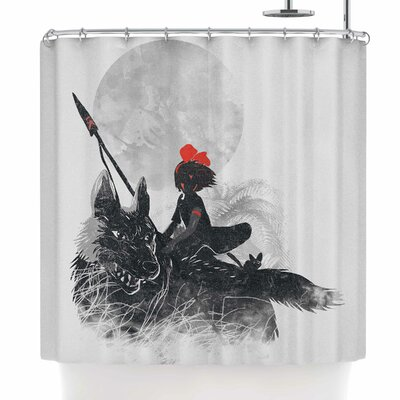 Frederic Levy-Hadida Princess Monokiki Illustration Shower Curtain