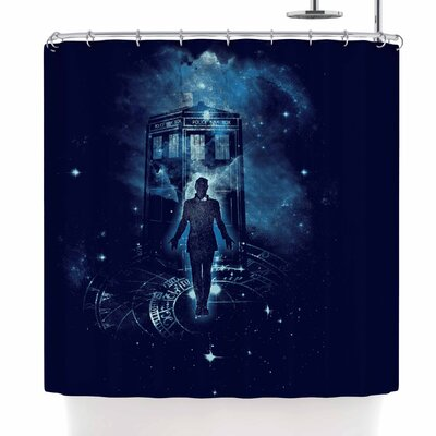 Frederic Levy-Hadida Time Traveller Shower Curtain