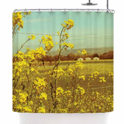 Graphic Tabby Spring Breeze Photography Shower Curtain