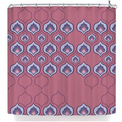 Fernanda Sternieri Happy Path in Coral Shower Curtain