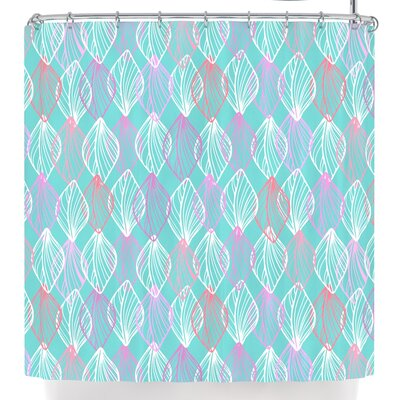Julia Grifol My White Leaves Shower Curtain