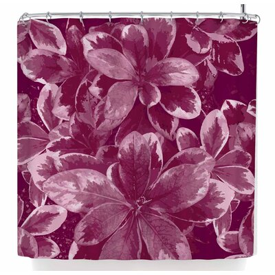 Julia Grifol Warm Leaves Shower Curtain