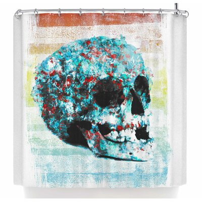 Frederic Levy-Hadida Floral Skully 2 Shower Curtain