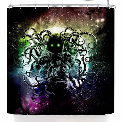 Frederic Levy-Hadida Terror From Deep Space Shower Curtain