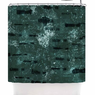 Iris Lehnhardt Tex Mix Jade Abstract Shower Curtain Color: Green