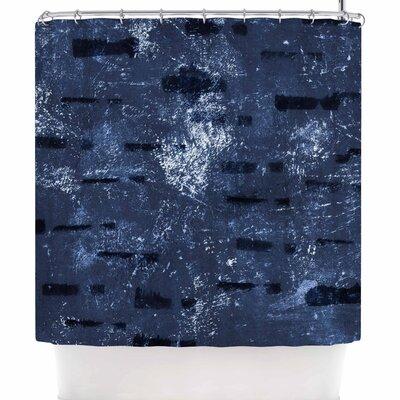 Iris Lehnhardt Tex Mix Jade Abstract Shower Curtain Color: Blue