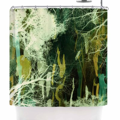 Iris Lehnhardt Tree of Life Green Shower Curtain Color: Green