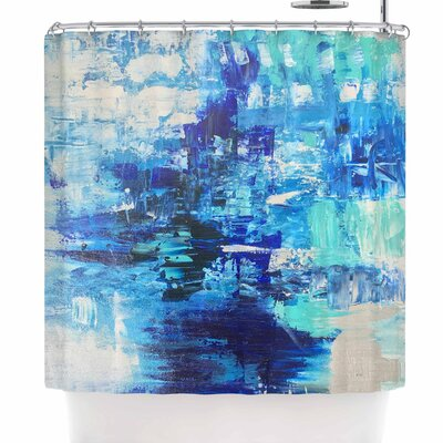 Geordanna Fields Walked on Water Abstract Shower Curtain