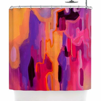 Geordanna Fields Pungent Euphoria Abstract Shower Curtain