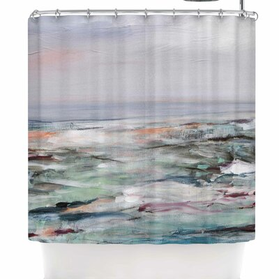 Iris Lehnhardt Coastal Scenery Coastal Abstract Shower Curtain