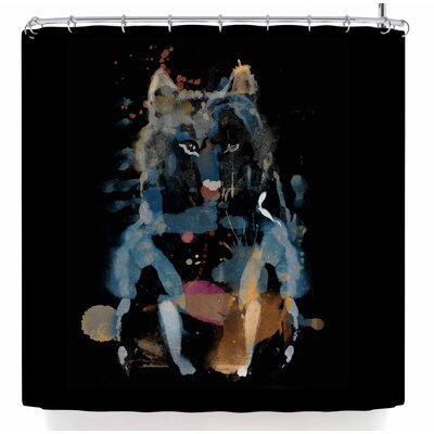 Frederic Levy-Hadida Watercolor Foxy Shower Curtain