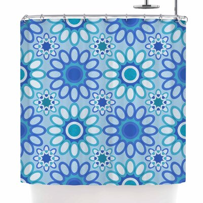 Julia Grifol Flowers Tile Shower Curtain