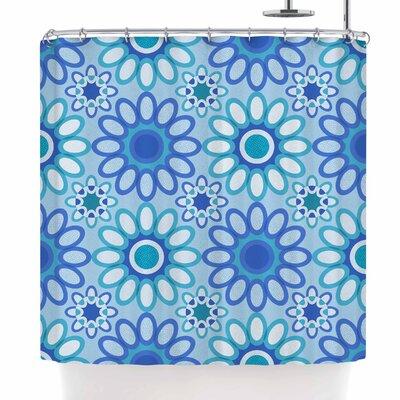 Julia Grifol Flowers Tile Shower Curtain