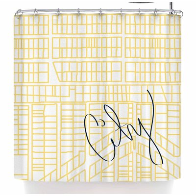 Love Midge City Streets and Parcel Maps Travel Shower Curtain