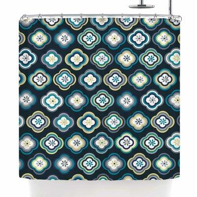Jolene Heckman Graphic Floral Shower Curtain
