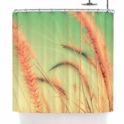 Graphic Tabby Dancing in Spring Shower Curtain