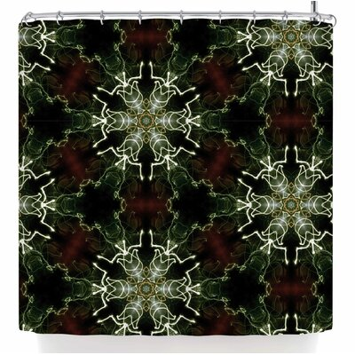 Gukuuki Mandala Lights Abstract Shower Curtain