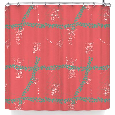Love Midge Bold Geometric Shower Curtain