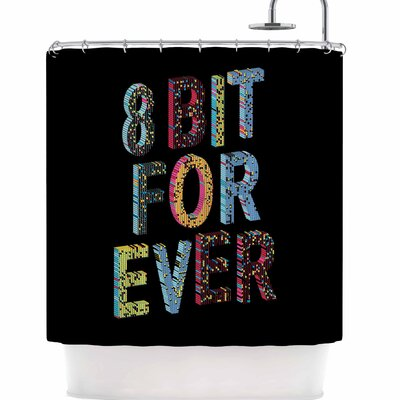 Frederic Levy-Hadida 8 Bit For Ever Shower Curtain