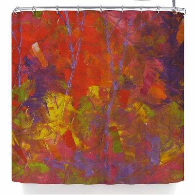 Jeff Ferst Forest Kaleidoscope Shower Curtain