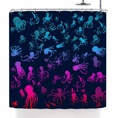 Frederic Levy-Hadida Octocrowdy Shower Curtain
