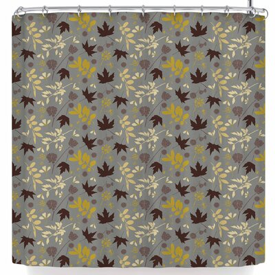 Mayacoa Studio Fall Leaves Floral Shower Curtain