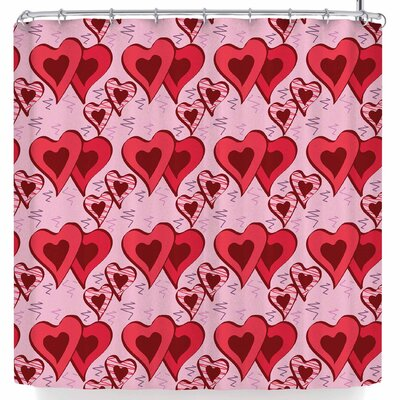 Mydeas Scribbled Heart Vector Shower Curtain