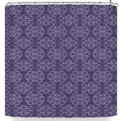 Mydeas Scroll Damask Shower Curtain