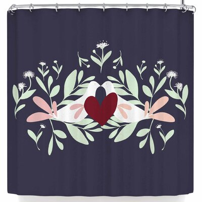 Mayacoa Studio Love Nest Shower Curtain