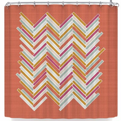 Pellerina Herringbone Weave Bold Vector Shower Curtain