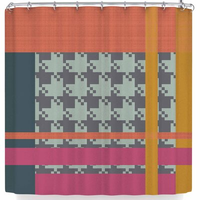 Pellerina Houndstooth Contemporary Shower Curtain