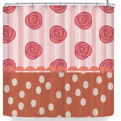 Pellerina Mismatch Bohemain Floral Shower Curtain