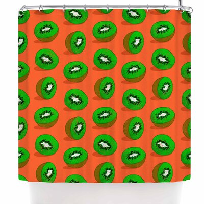 Evgenia Kiwifruit Shower Curtain